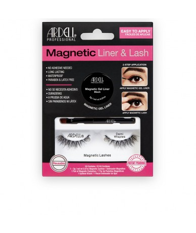 MAGNETIC LINER & LASH DEMI WISPIES liner + 2 lashes - ARDELL
